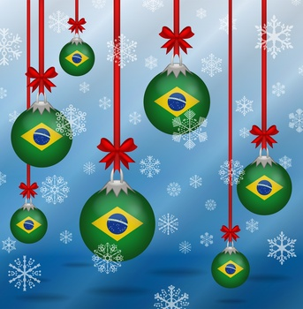 Christmas background flags Brazil